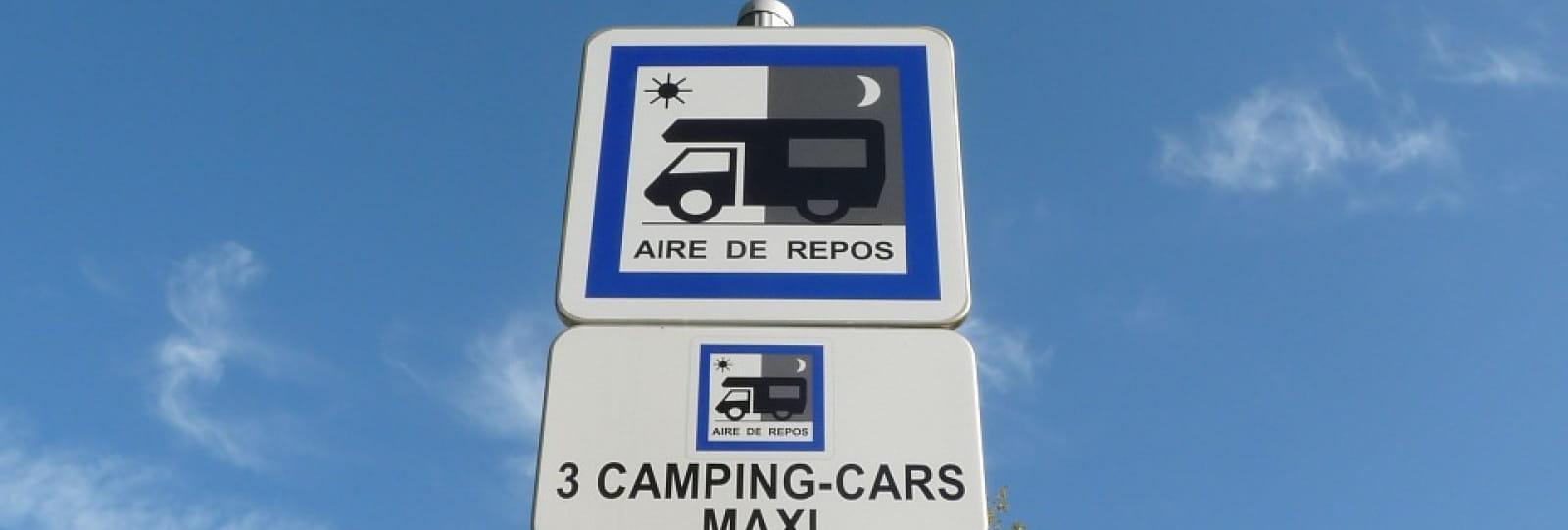 Aire de camping car de Saint Restitut