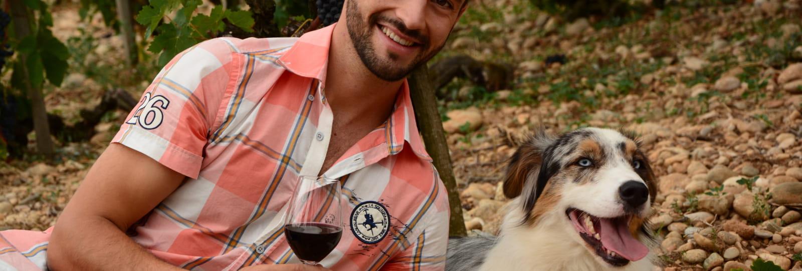 Jean Esprit et son chien