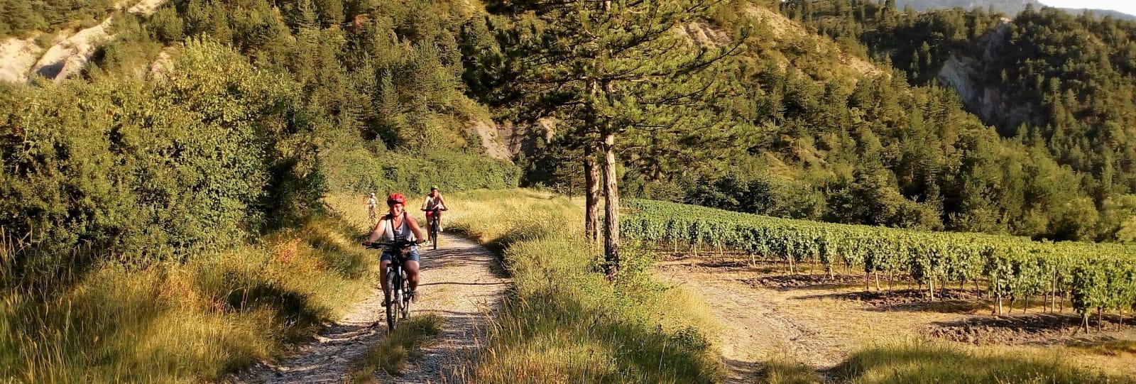 Balade guidée à vélo électrique - Villages perchés de la vallée de la Drôme avec BEcyclette