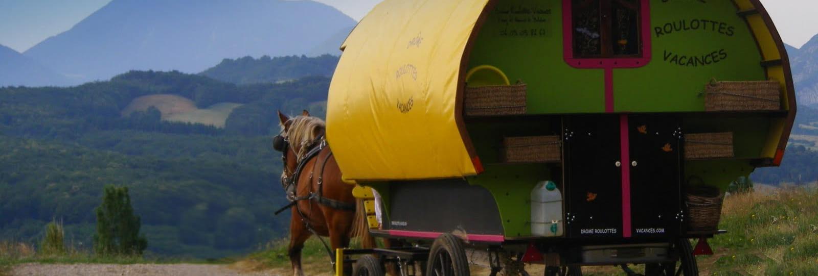 Une semaine de bohème en roulotte tirée par des chevaux