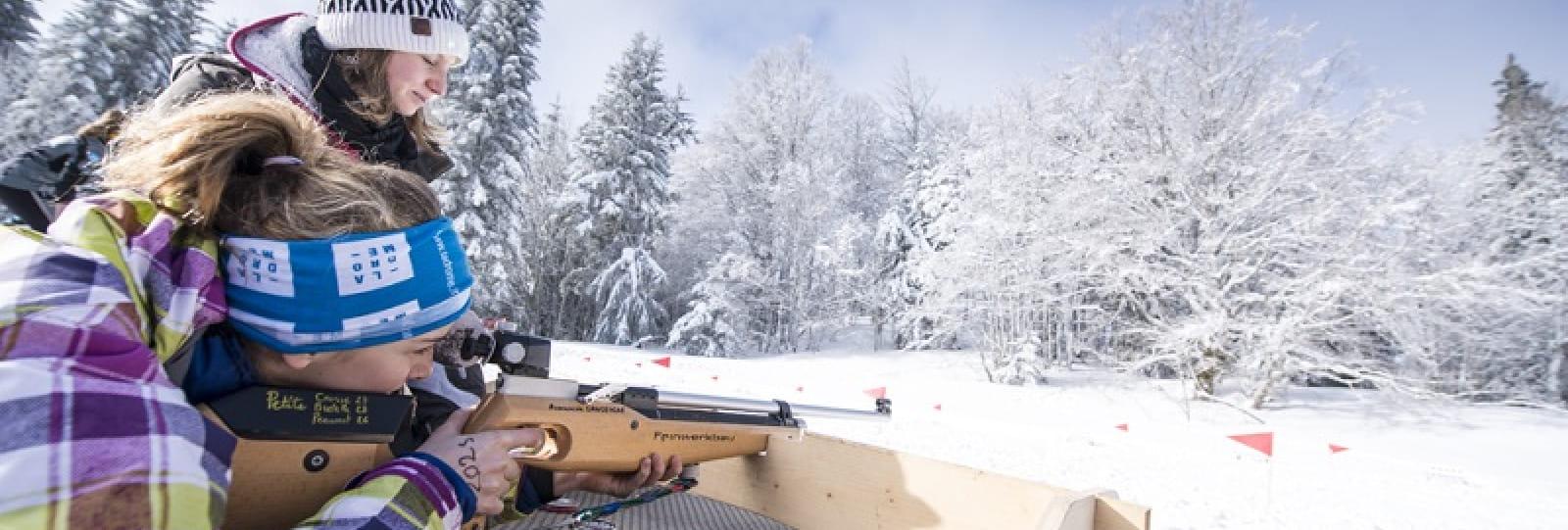 Biathlon découverte carabine 22 long rifle