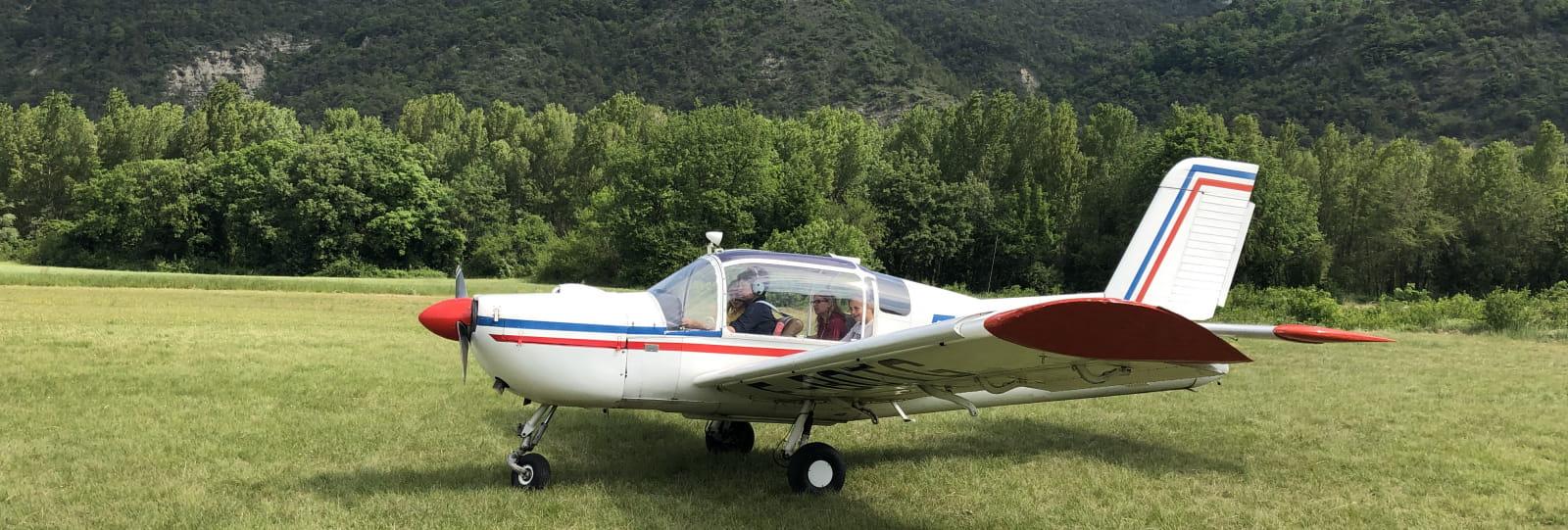 Vol en avion avec l'association aéronautique de Rochecourbe