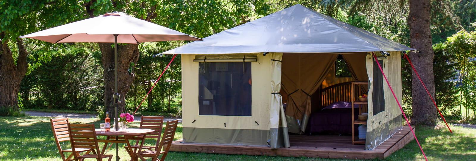Tente Lodge 'Pitrou' - Camping de la Clairette